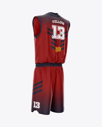 Download Basketball Uniform Back Half Side View Jersey Mockup PSD ...