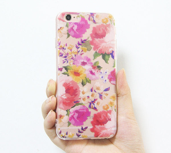 Abstract Color Spring Flowers Iphone 6s 6 Clear Case Iphone 6 Plus