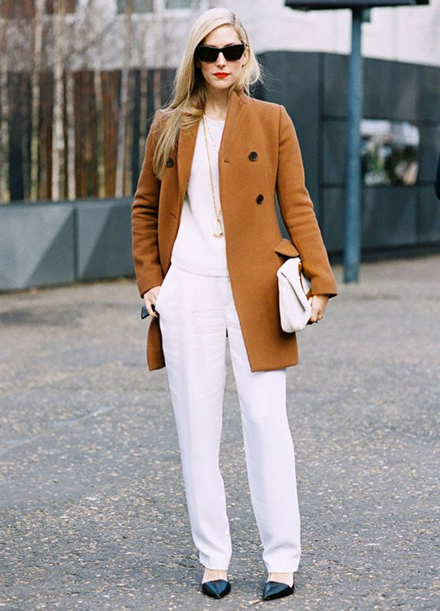 This is how to wear your whites during the cooler months: