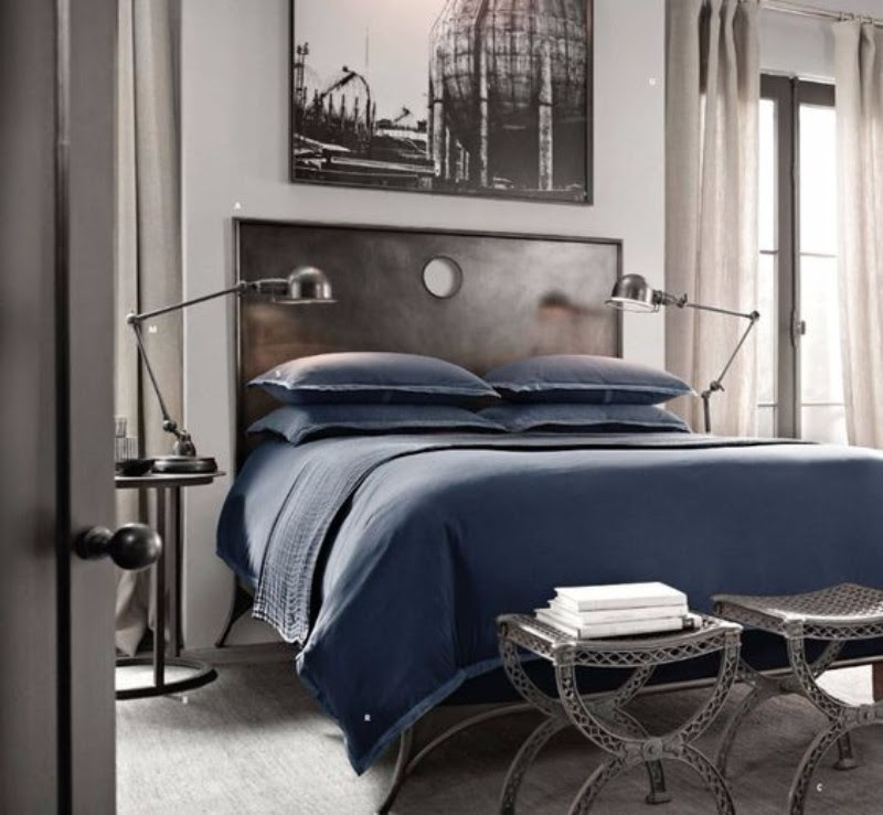 Bedroom Inspiration in Shades of Grey and Blue - Master ...