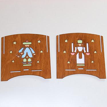 Teelichtwürfel braun Seitenteile mit Bodenaufnahme