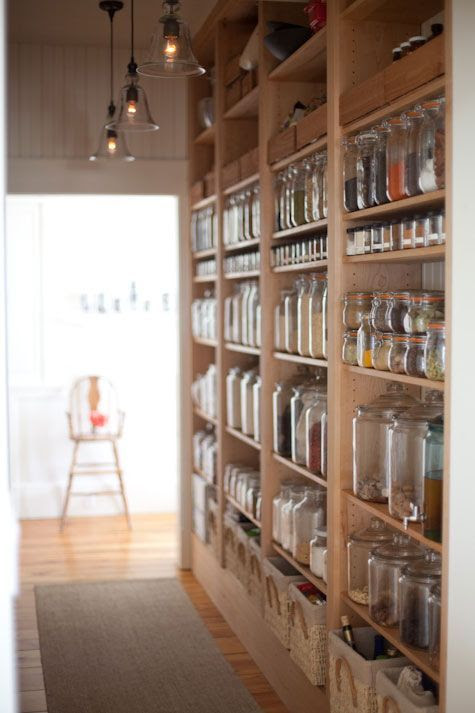 Open pantry/shelving/storage