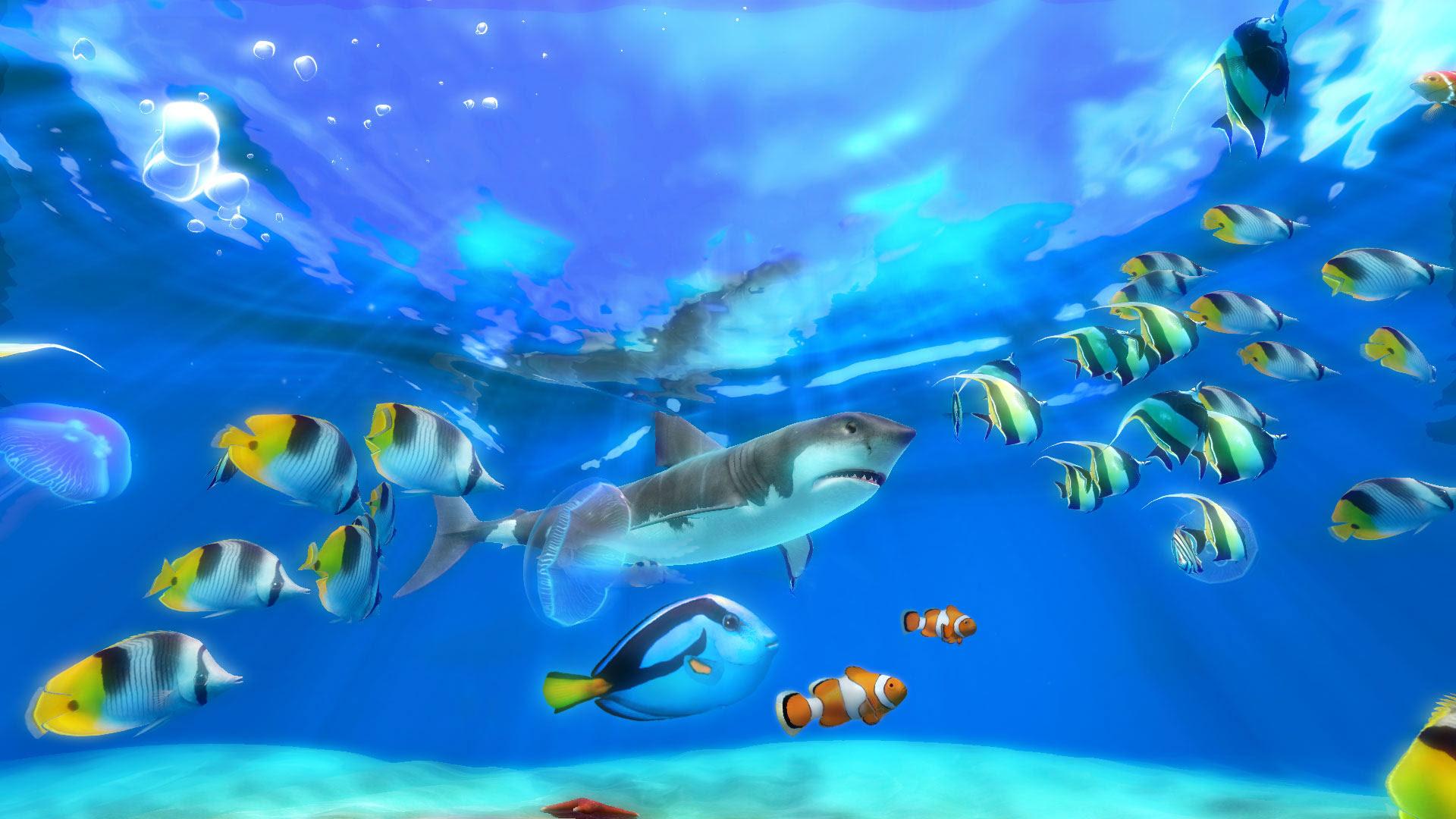 An82 Apple Ios9 Fish Live Background Dark Blue: +68 Fish Live Wallpaper