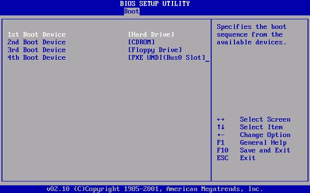Configurando a BIOS (Foto: Reprodução/Helito Bijora)