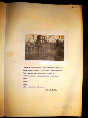 Una página del cuaderno.