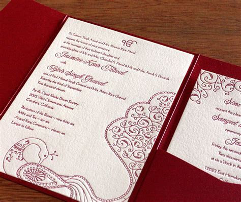 Indian Mehndi Letterpress Wedding Invitation Gallery