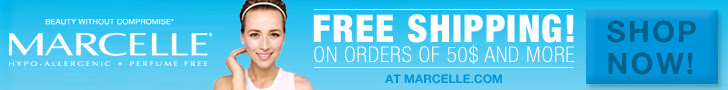 FREE SHIPPING on orders over $50 or more at Marcelle.com!