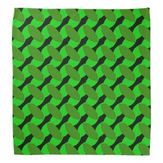 Green Leaf Geometrics Bandana