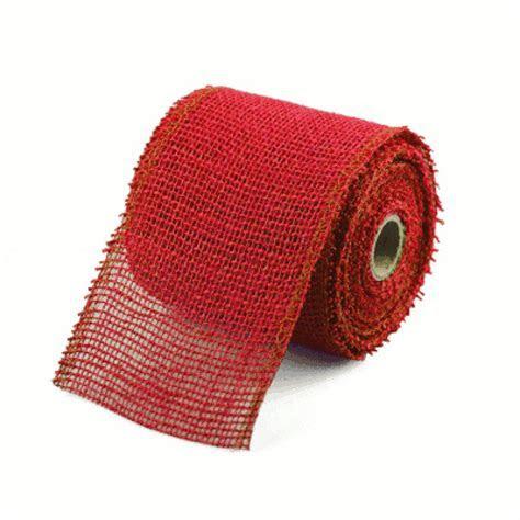 "Red Jute ribbon 4"" wide, 10 yards   Burlap Boutique"
