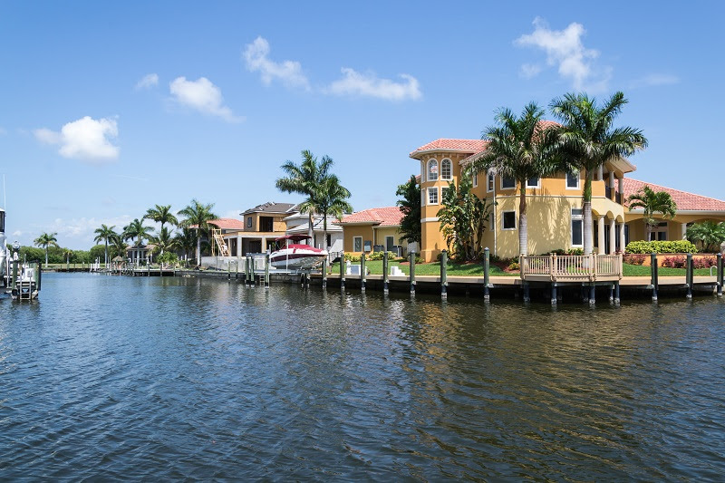 Canal in Cape Coral, Florida