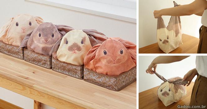 Bolsas de coelho organizam a bagunça na sua casa