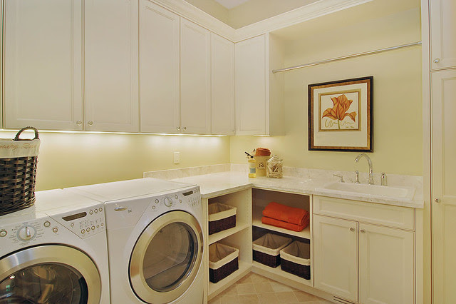 Convenient Second Floor Laundry - contemporary - laundry room ...