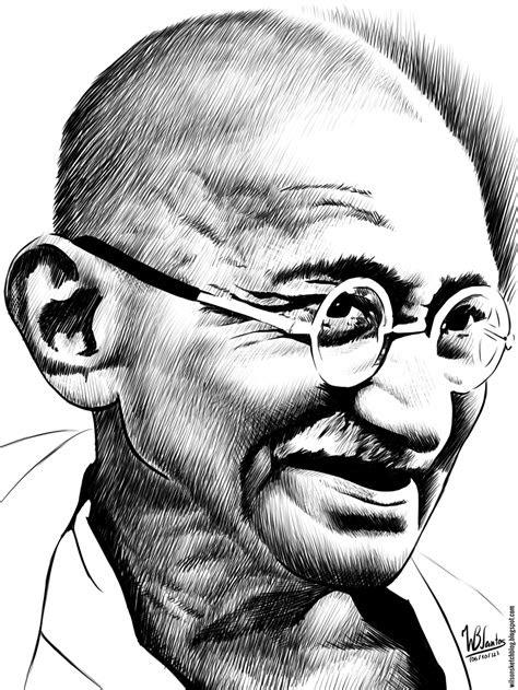 ink drawing  mahatma gandhi portraits  admire