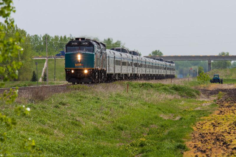 VIA 6438 near Portage