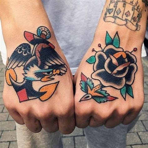 simple hand tattoos men cool ink design ideas