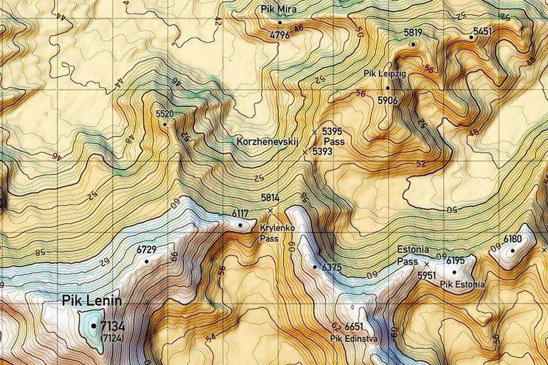 karte mit höhenlinien Karte Mit Höhenlinien   Karte