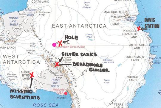 Locations identified by U. S. Naval Flight Engineer (Ret).