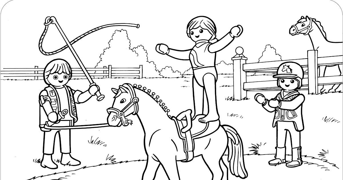 playmobil pferde zum ausmalen  malvorlagen