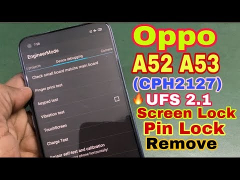 Hard reset Oppo A52 & A53 2021 Unlock Pattern & Frp By OPPO Tool 2021