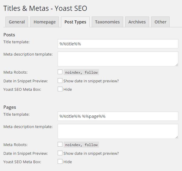 Post Types Meta