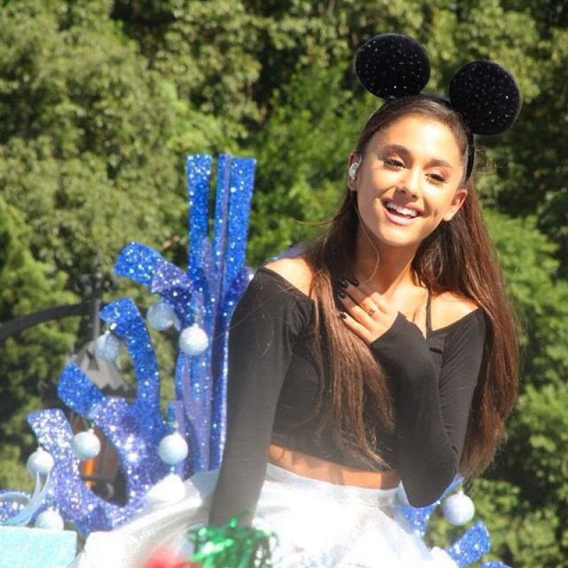 ARIANA GRANDE Performs at Disney Parks