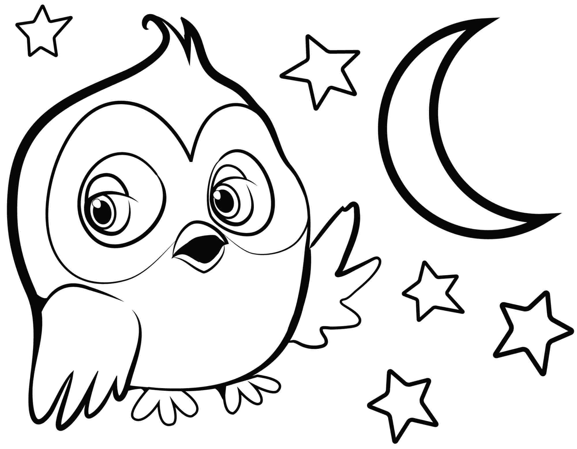 Easy Animal Coloring Pages For Kids at GetDrawings | Free ...