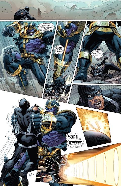 Black Bolt Vs Thanos Comic