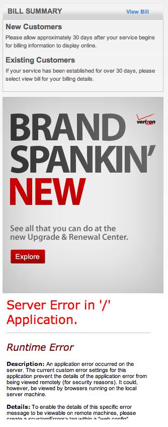 Brand Spankin' Fail