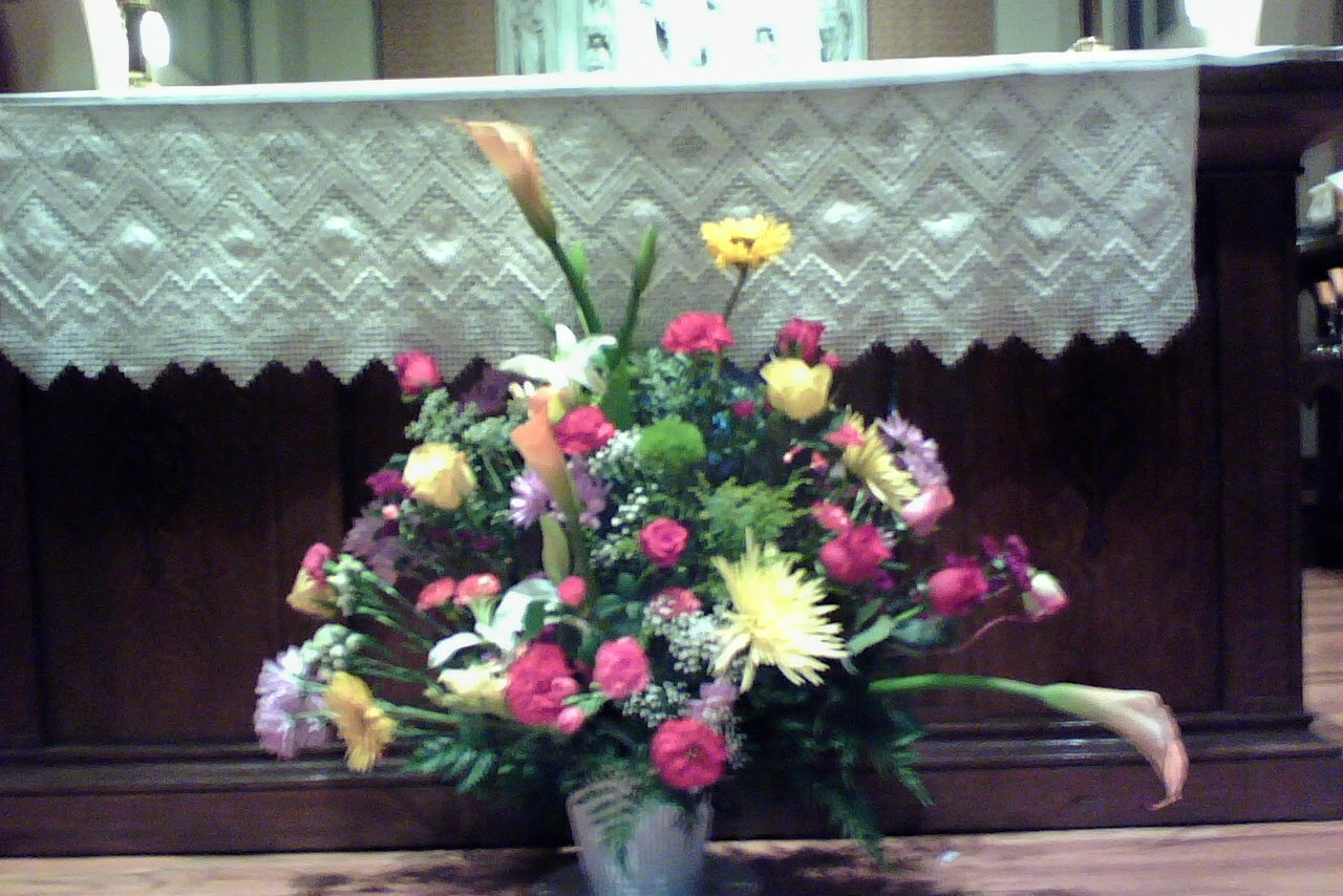 flower bouquet at dignity mass