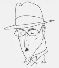 [ilustração: Almada Negreiros (1893-1970). Retrato de F. Pessoa. 1935. in Presença, nº 48, 1936. ]