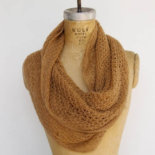 camel twisted cowl