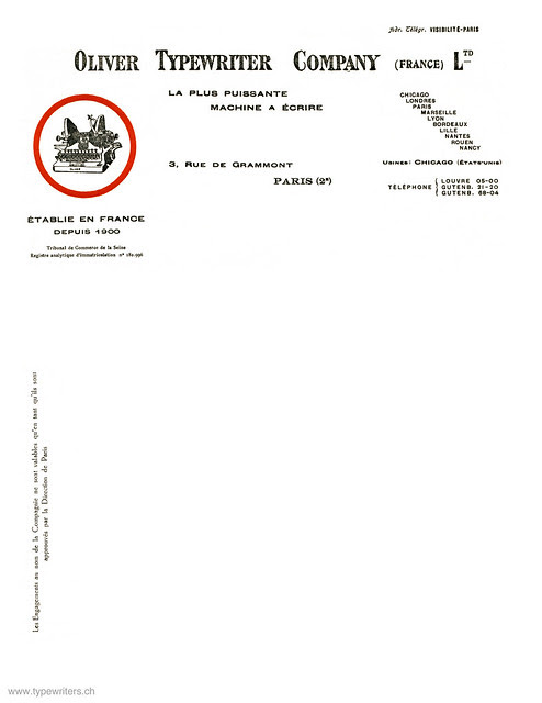 letterhead_oliver_typewriter_co