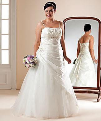 plus-size wedding dress