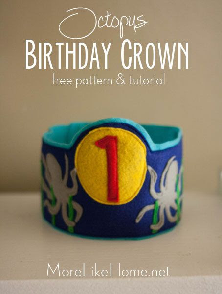 http://www.morelikehome.net/2014/08/octopus-birthday-crown-free-pattern.html