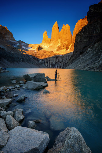 The Towers from Torres del Paine por piriyaphoto