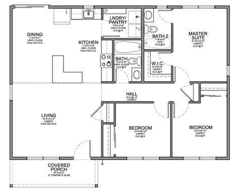 floor plan  affordable  sf house   bedrooms