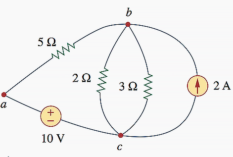 The three-node circuit of Figure 1 is redrawn