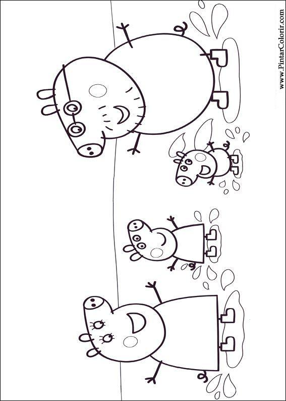 Pintar e Colorir Peppa Pig - Desenho 008