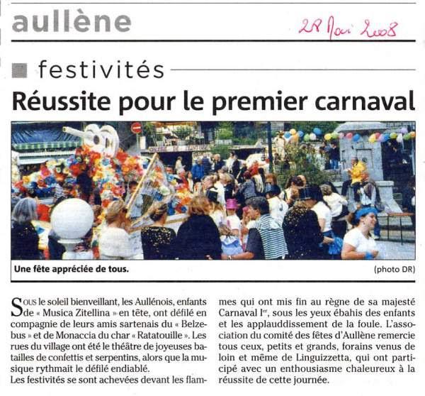 Carnaval Aullène 2008