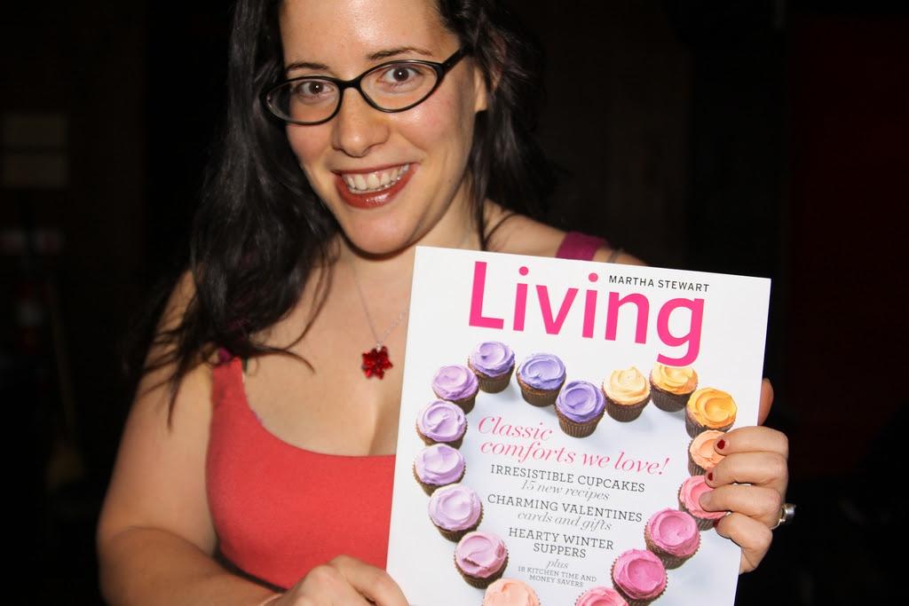 Rachel and Living magazine