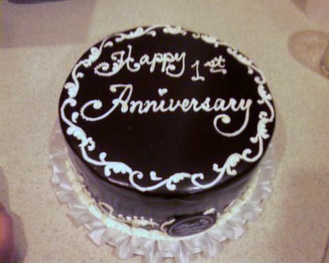 1st anniversary cake