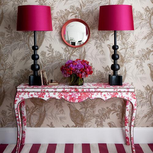Black and Pink - Striking Hallway_Interior Design via housetohome