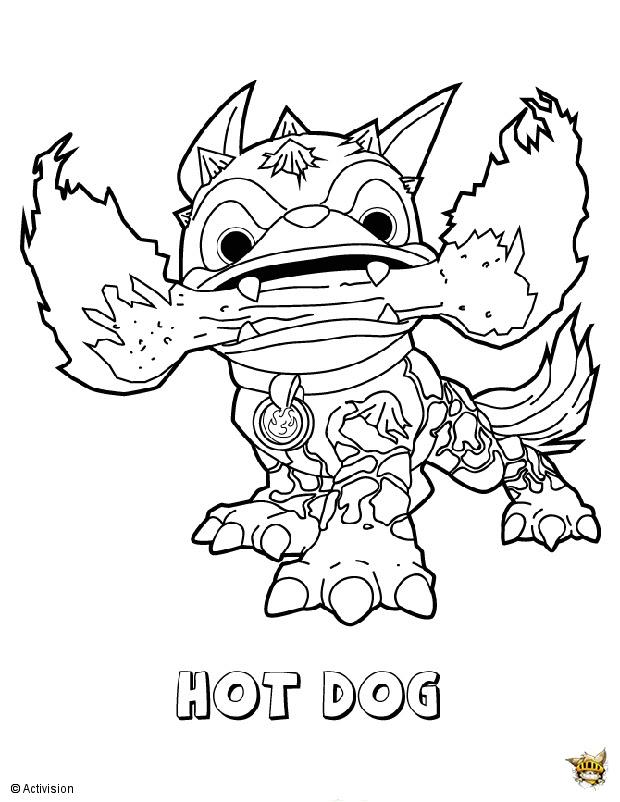 Hot Dog Est Un Coloriage De Skylanders