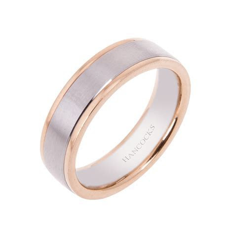 Platinum and Rose Gold Gents Wedding Ring   Hancocks Jewellers