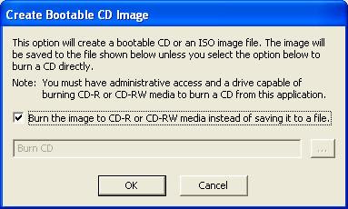 Dell Diagnostics Utility - Create Bootable CD