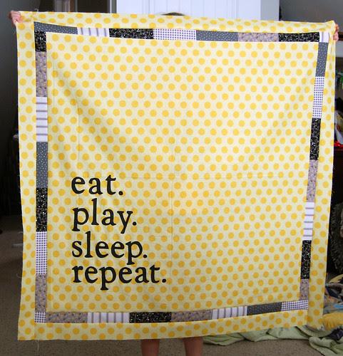 eatplaysleep quilt top