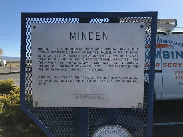 Nevada historical marker 130 for Depot minden