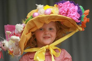 Children take part in an Easter Bonnet parade at Abridge Pre-School. (07/04/2011) EL24993-5