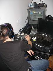 The vloggercon control room