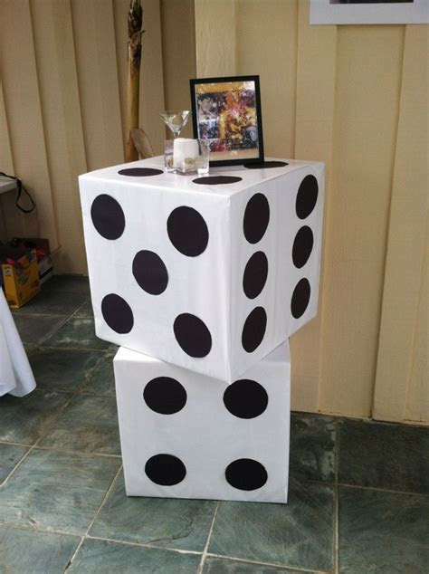 Giant Dice for Casino/Bond party   make with cardboard